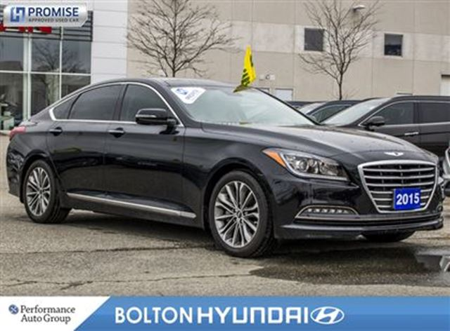 2015 Hyundai Genesis 3.8 Luxury 28614 KM Off Lease Leather Navi in Bolton, Ontario