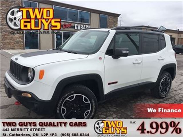 2015 JEEP RENEGADE TRAILHAWK 4X4 OFF ROAD CAPABLE! in St Catharines, Ontario