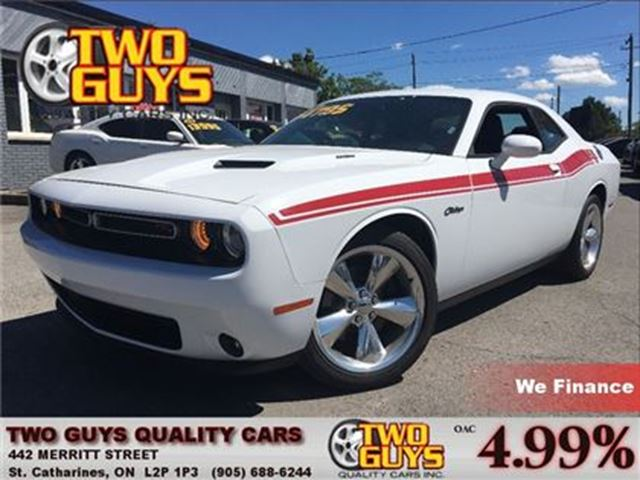 2016 Dodge Challenger R/T PLUS LEATHER ROOF ALPINE LOW KMS!!!! in St Catharines, Ontario
