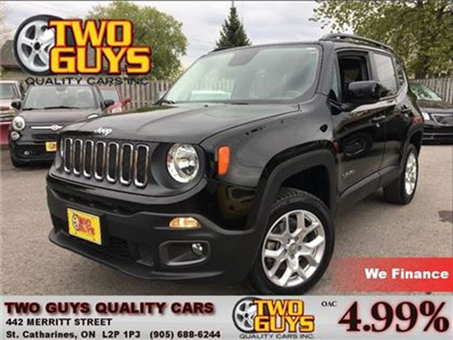 2015 JEEP RENEGADE NORTH LATITUDE 4X4 HTD SEATS & STEERING WHEEL in St Catharines, Ontario