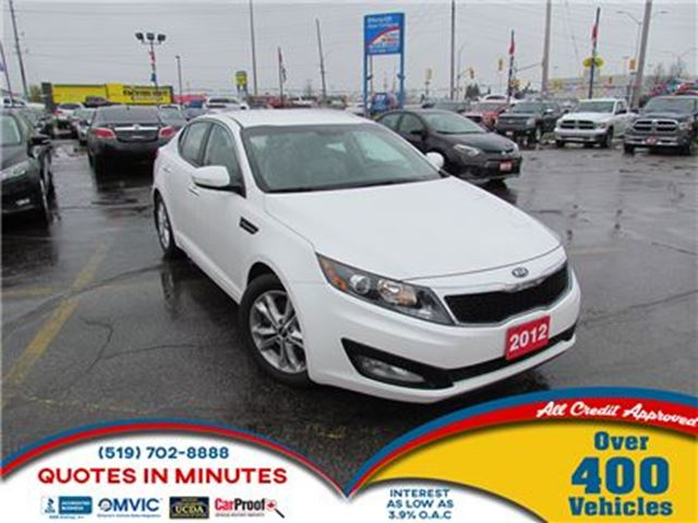 2012 KIA OPTIMA EX   LEATHER   ALLOYS   BACKUP CAM in London, Ontario