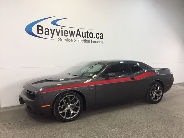 2016 DODGE CHALLENGER R/T- 6 SPD! CLASSIC APPEARANCE PKG! BSA! LEATHER! in Belleville, Ontario