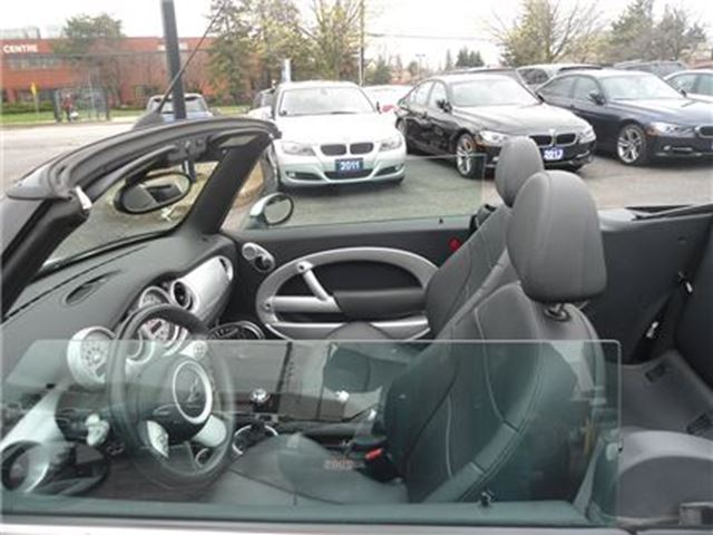 2008 MINI Cooper 2dr Conv 5 speed,LEATHER ALLOY NO ACCIDENT  A/C SA in Oakville, Ontario
