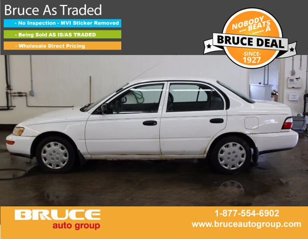 1997 Toyota Corolla SD 1.6L 4 CYL AUTOMATIC FWD 4D SEDAN in Middleton, Nova Scotia
