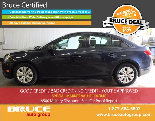 2014 Chevrolet Cruze LS 1.8L 4 CYL 6 SPD MANUAL FWD 4D SEDAN in Middleton, Nova Scotia