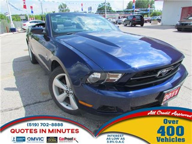 2011 Ford Mustang CONVERTIBLE   LEATHER   SUMMER READY in London, Ontario