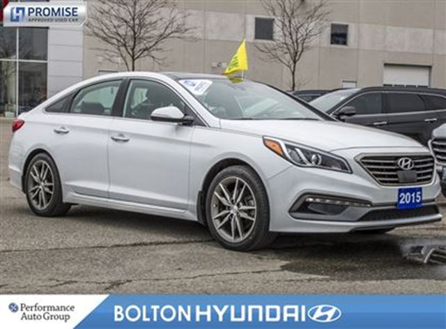 2015 Hyundai Sonata 2.0T Ultimate Leather NAVI Moon Roof Bluetooth in Bolton, Ontario