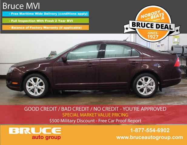 2012 FORD FUSION SE 2.5L 4 CYL AUTOMATIC FWD 4D SEDAN in Middleton, Nova Scotia