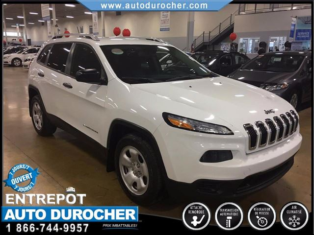 2014 Jeep Cherokee SPORT-CAMERA RECUL-BLUETOOTH-SIn++GE/VOLANT CHAUF. in Laval, Quebec