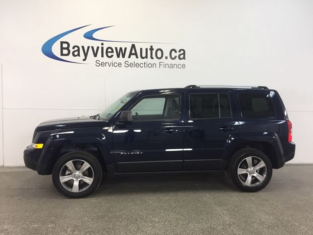 2016 JEEP PATRIOT HIGH ALTITUDE- 4x4! SUNROOF! LEATHER! U-CONNECT! in Belleville, Ontario