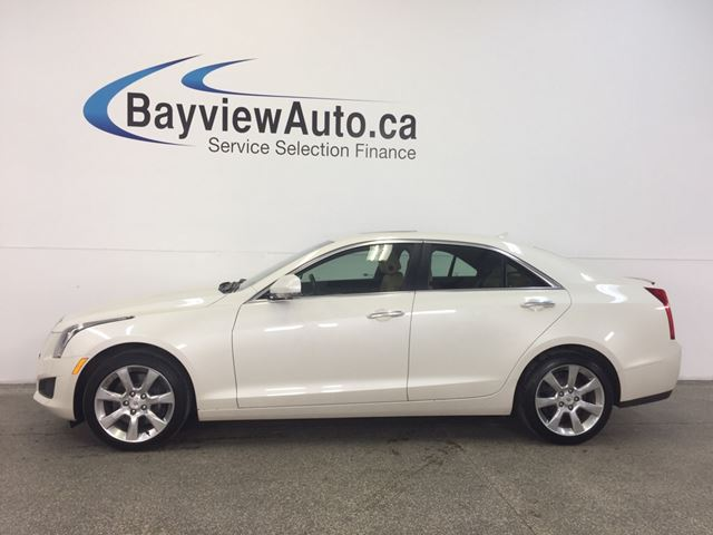 2014 Cadillac ATS LUXURY- AWD! SUNROOF! REM START! LEATHER! NAV! in Belleville, Ontario