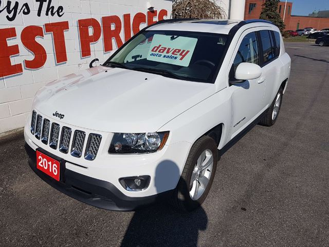 2016 Jeep Compass Sport/North 4X4, SUNROOF, HEATED LEATHER SEATS in Oshawa, Ontario