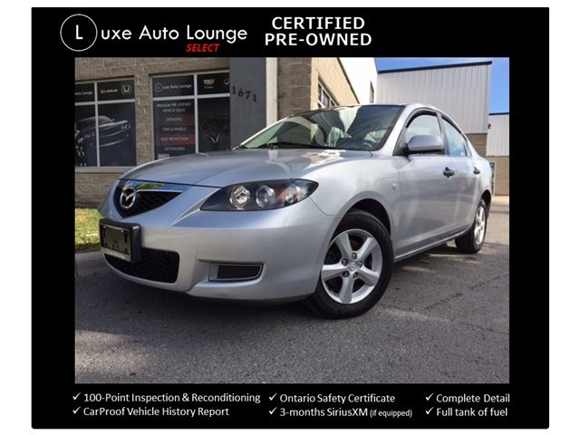 2008 Mazda MAZDA3 GS - AUTO, POWER GROUP, ALLOYS, GREAT SHAPE! FRESH TRADE-IN LUXE CERTIFIED PRE-OWNED! in Orleans, Ontario