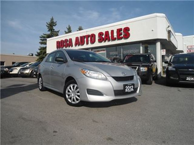2012 Toyota Matrix 4dr Wgn Auto FWD 4 NEW TIRES NO ACCIDENT POWER WIN in Oakville, Ontario