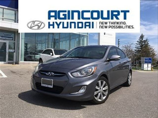 2014 Hyundai Accent GLS AUTO/SUNROOF/BACKUP CAM/ONLY 27802KMS in Toronto, Ontario