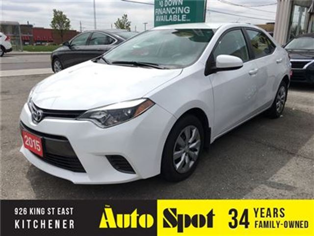 2015 Toyota Corolla LE/BACK UP CAMERA/FULLY LOADED! in Kitchener, Ontario