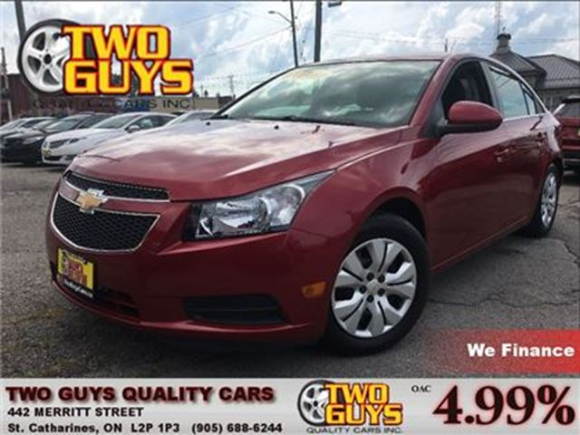 2013 Chevrolet Cruze LT Turbo REMOTE ENGINE START BLUETOOTH CONNECTION in St Catharines, Ontario