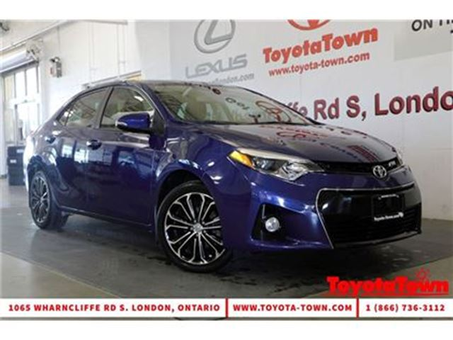 2014 Toyota Corolla LOADED S TECH PACKAGE LEATHER+NAVIGATION in London, Ontario