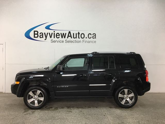 2016 JEEP PATRIOT HIGH ALTITUDE- 4x4! SUNROOF! LEATHER! UCONNECT! in Belleville, Ontario