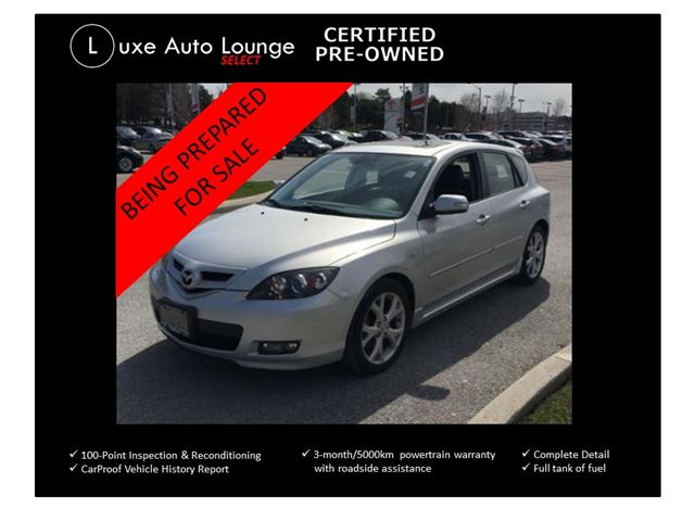 2008 Mazda MAZDA3 GT - AUTO, SUNROOF, HEATED SEATS, CD/MPE, CRUISE, LOADED!! in Orleans, Ontario