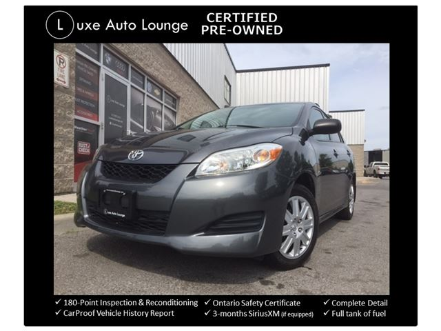 2011 Toyota Matrix ONLY 78,000KM! AUTO, BLUETOOTH, POWER GROUP, A/C, CRUISE, LUXE CERTIFIED PRE-OWNED! in Orleans, Ontario