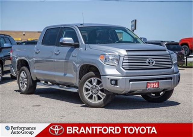 2014 Toyota Tundra Platinum 5.7L V8, Off Lease, Carproof Clean in Brantford, Ontario