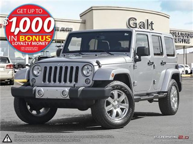 2014 JEEP WRANGLER UNLIMITED SAHARA   ONLY $235 BI-WEEKLY* in Cambridge, Ontario