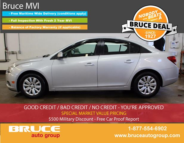 2011 Chevrolet Cruze LT 1.4L 4 CYL TURBOCHARGED AUTOMATIC FWD 4D SED in Middleton, Nova Scotia