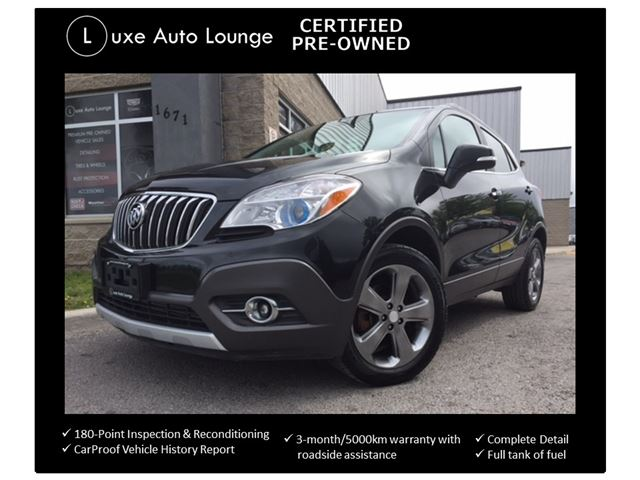 2014 Buick Encore ONLY 58K! BACK-UP CAMERA, POWER SEAT, SATELLITE RADIO, LOADED! LUXE CERTIFIED PRE-OWNED! in Orleans, Ontario
