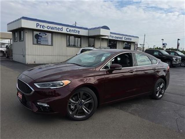used 2017 ford fusion v6 sport awd burlington. Black Bedroom Furniture Sets. Home Design Ideas