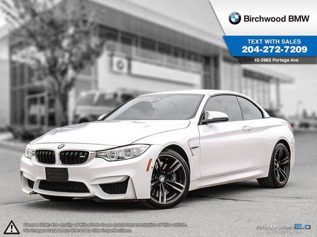 2016 BMW M4 2dr Conv Executive Package, Driver Assistance Package & Premium Package! in Winnipeg, Manitoba