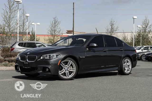 2016 BMW 5 SERIES Driver Assistance, Premium, AND M Sport Package in Langley, British Columbia