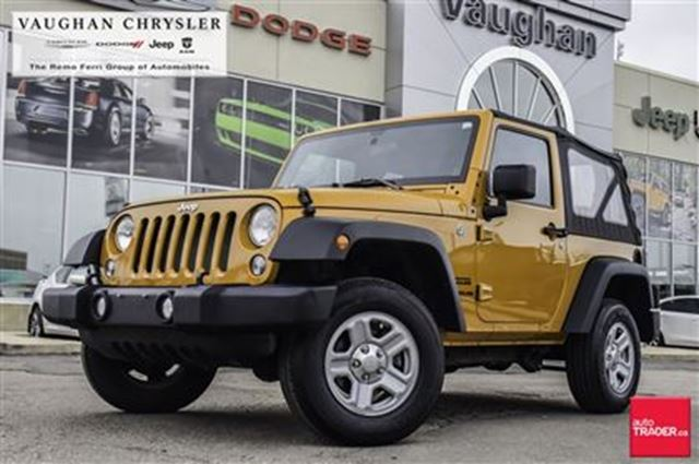 2014 JEEP WRANGLER 1 Owner Sport* 6spd manual* Only 14520 kms!! in Woodbridge, Ontario