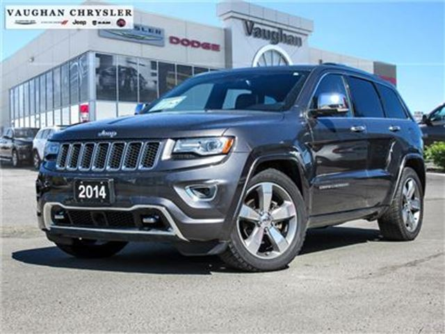 2014 JEEP GRAND CHEROKEE 1 Owner * Overland* Panoramic Sunroof* Navigation in Woodbridge, Ontario