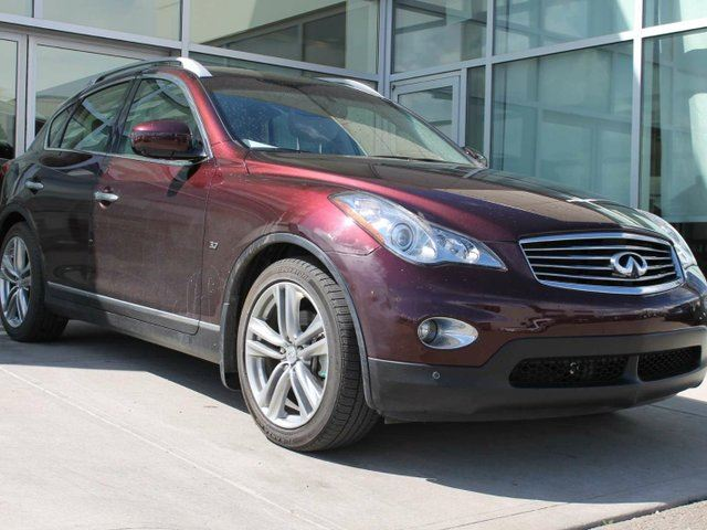2015 Infiniti QX50 PREMIUM NAVIGATION/AROUND VIEW MONITOR/LEATHER/HEATED FRONT SEATS/MOON ROOF in Edmonton, Alberta