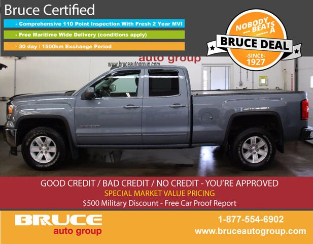 2015 GMC SIERRA 1500 SLE 5.3L 8 CYL AUTOMATIC 4X4 EXTENDED CAB in Middleton, Nova Scotia