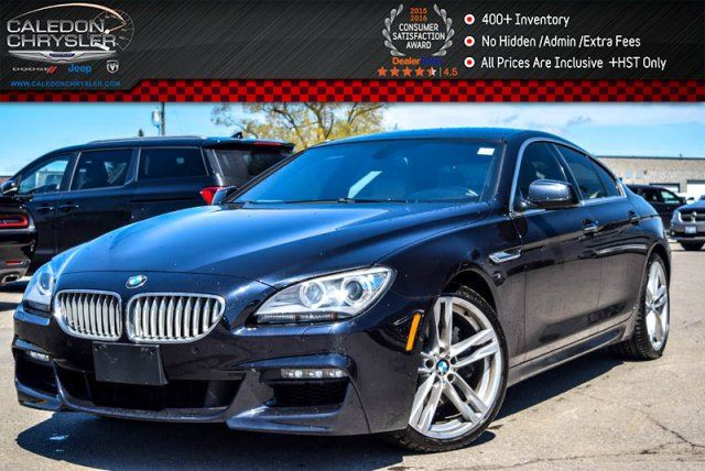 2013 BMW 6 Series 650i xDrive M PKG Navi Pano Sunroof Bluetooth Leather Keyless Entry 19Alloy Rims in Bolton, Ontario