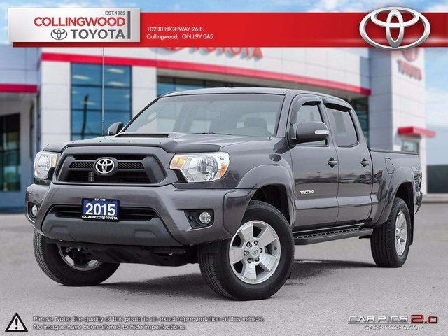 2015 Toyota Tacoma TRD PACKAGE 4X4 DOUBLE CAB V6 HEATED SEATS in Collingwood, Ontario
