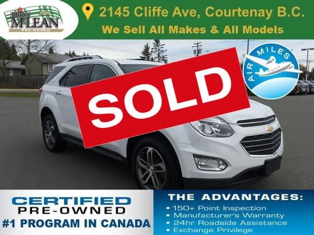 2016 Chevrolet Equinox LTZ in Courtenay, British Columbia
