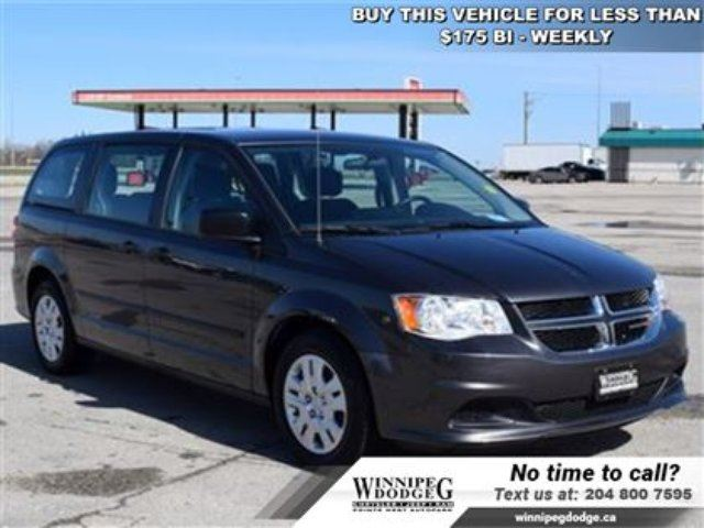 2016 Dodge Grand Caravan Canada Value Package *LOCAL-Accident-Free* in Winnipeg, Manitoba