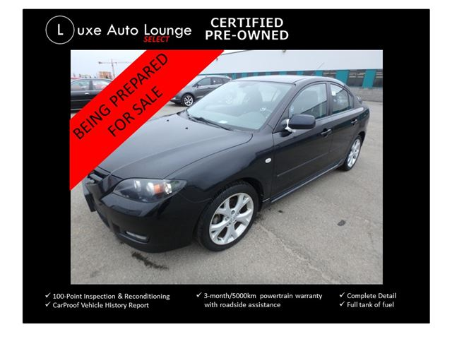 2008 Mazda MAZDA3 GT - SUNROOF, HEATED SEATS, 5SPD, ALLOYS, LOADED! LUXE SELECT CERTIFIED PRE-OWNED in Orleans, Ontario