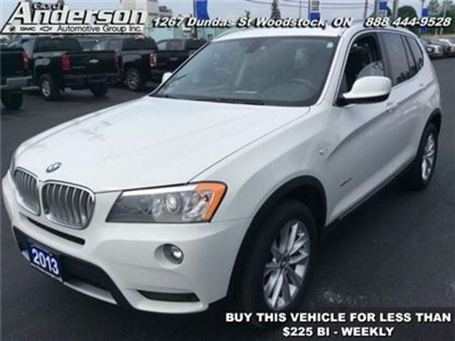 2013 bmw x3 xdrive35i woodstock ontario car for sale. Black Bedroom Furniture Sets. Home Design Ideas