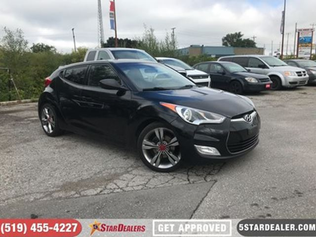 2012 HYUNDAI VELOSTER TECH PACKAGE   ROOF   NAV   LEATHER   HEATED SEATS in London, Ontario