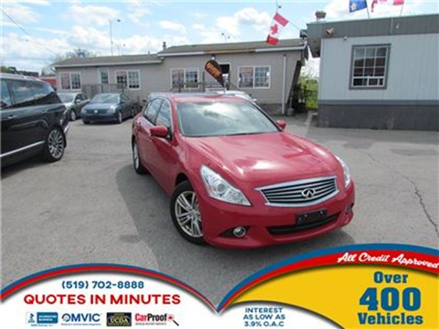 2012 INFINITI G37 x ROOF   LEATHER   KEYLESS in London, Ontario