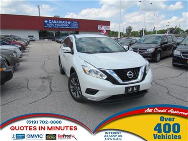 2016 NISSAN MURANO S   NAVIGATION   KEYLESS   ALLOYS in London, Ontario