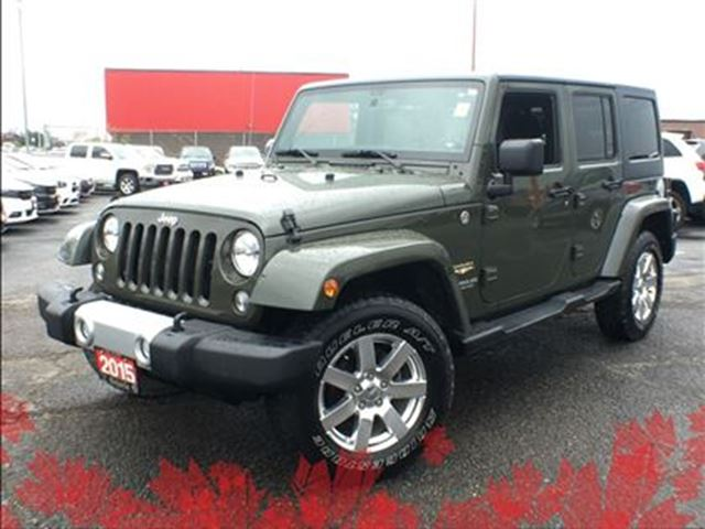 2015 Jeep Wrangler Unlimited SAHARA**NAV**6.5 INCH TOUCHSCREEN**BLUETOOTH** in Mississauga, Ontario