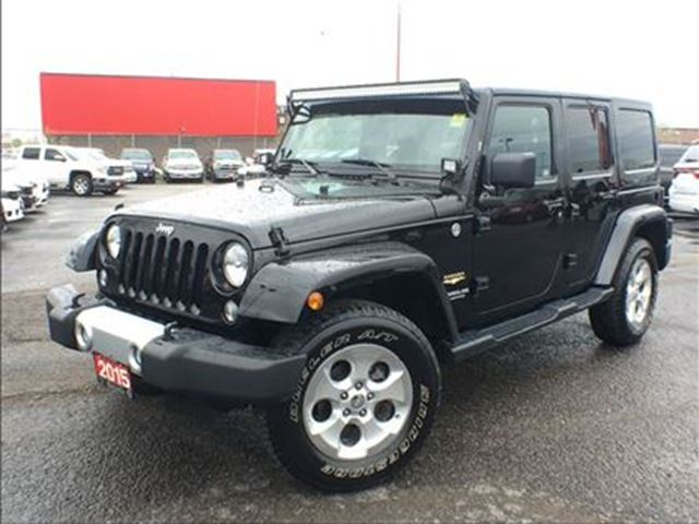 2015 Jeep Wrangler Unlimited SAHARA**NAV**6.5 INCH TOUCHSCREEN**TRAILER TOW** in Mississauga, Ontario