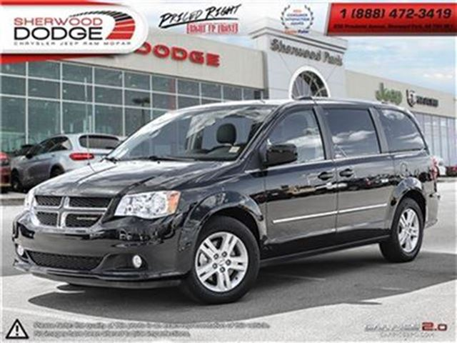 2016 Dodge Grand Caravan CREW  595 TOW/ROADSIDE WARR  HEATED LEATHER  NAV in Sherwood Park, Alberta