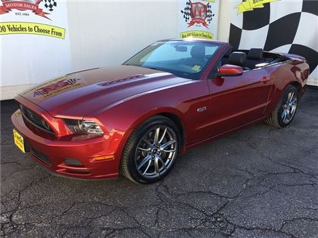 2014 Ford Mustang GT, Manual, Leather, Convertible, Only 40, 000km in Burlington, Ontario