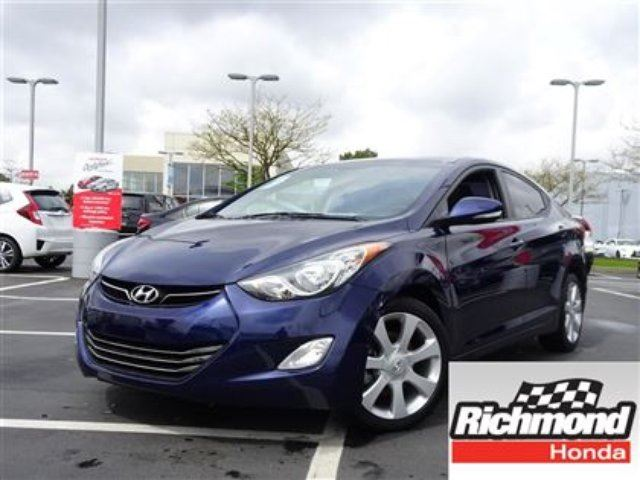 2013 HYUNDAI ELANTRA LIMITED! BALANCE OF THE FACTORY WARRANTY! in Richmond, British Columbia